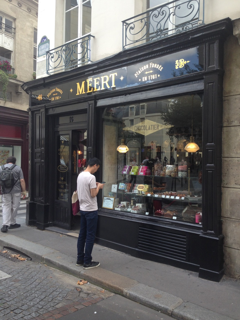 window shopping for pastries in Paris